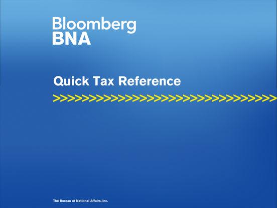 BNA Quick Tax Reference iPad Screenshot 1