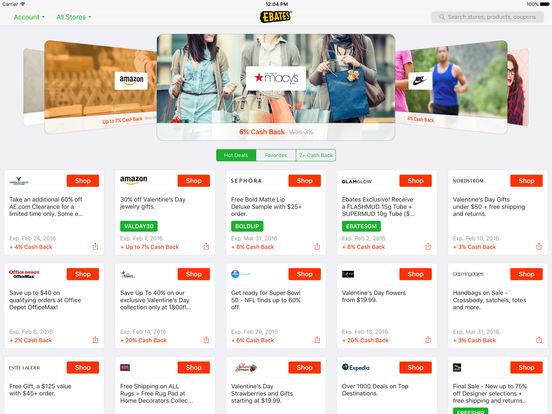 Ebates: Cash Back, Rebates, Online Deals, & Coupons at Your Favorite Stores screenshot
