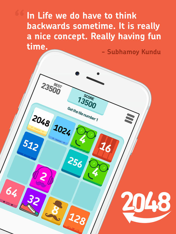 2048 Backwards screenshot