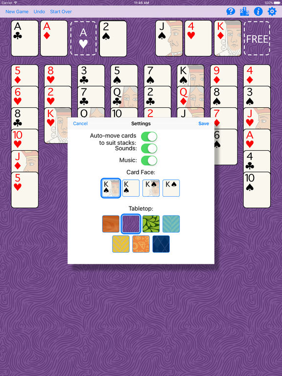 FreeCell Gold Screenshots