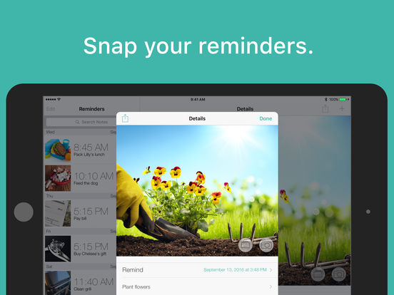PhotoMind - Picture Reminders, Todo, and Notes iPad Screenshot 5