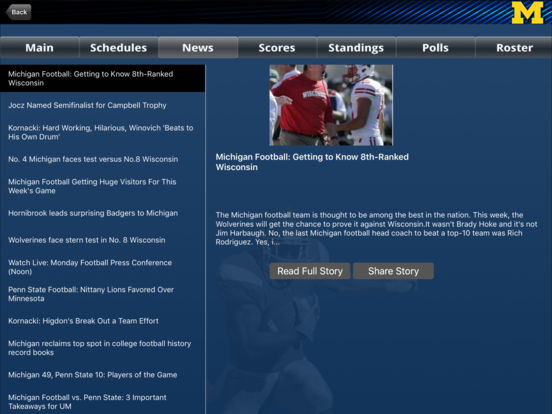 Michigan Wolverines College SuperFans iPad Screenshot 3