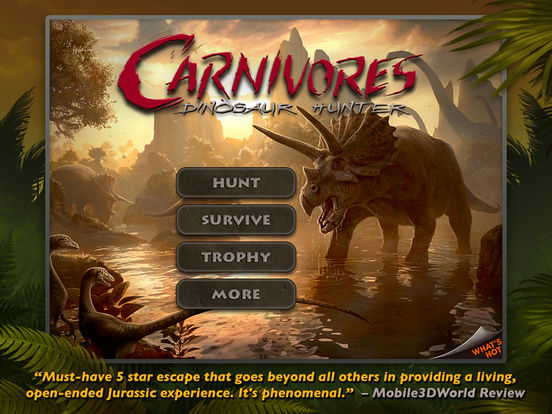 Carnivores: Dinosaur Hunter LE iPad Screenshot 1