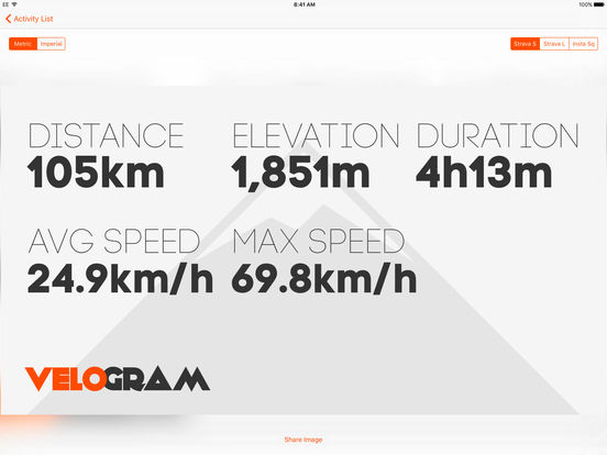 Velogram for Strava Cycling & Running Screenshots
