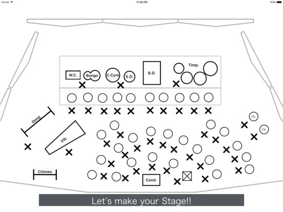 settingsheet for band seating chart writer apppicker