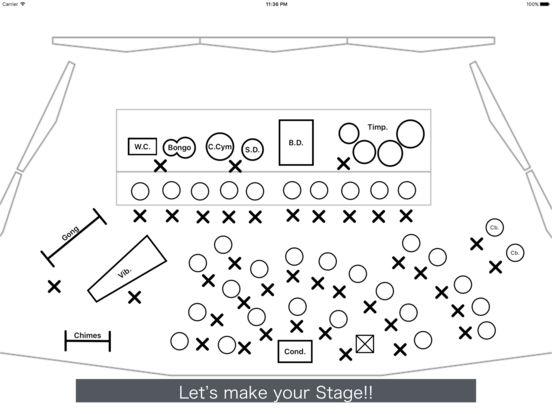 app shopper  settingsheet for band  seating chart writer   productivity