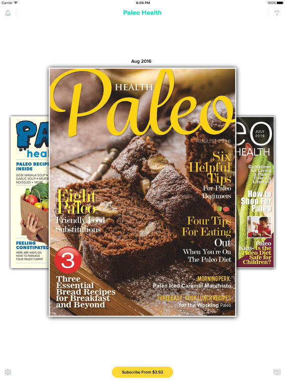 The Paleo Diet Magazine - Recipes for Breakfast, Bread, Muffins, Meals and Desserts. screenshot