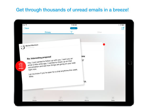 Zero - best email app for any inbox screenshot