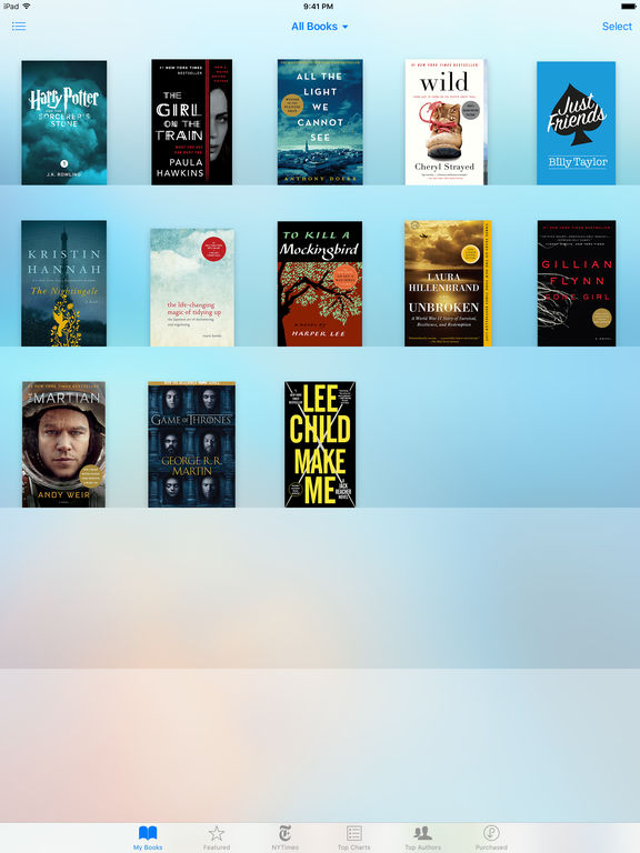 iBooks screenshot
