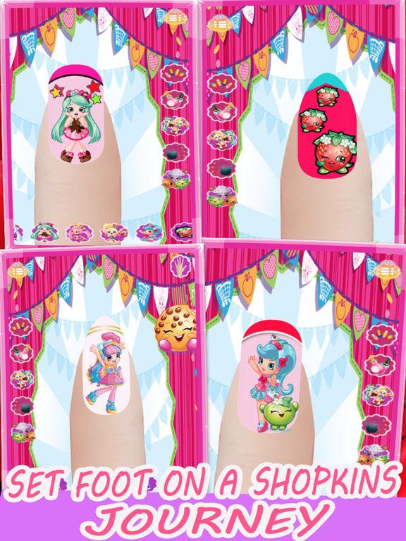 Nail Art Manicure For Shopkins Apprecs