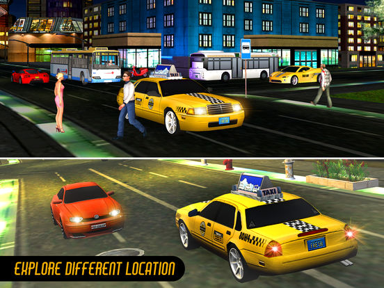 Taxi Driver 3D-Extreme Taxi driving & parking game Скриншоты7