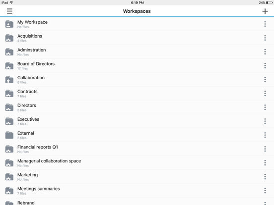 WatchDox iPad Screenshot 1