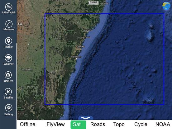 Marine: Sydney HD - GPS Map Navigator iPad Screenshot 5