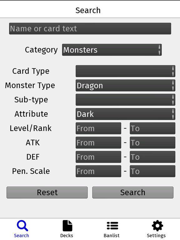 Yugipedia Deck Builder for YuGiOh screenshot 4