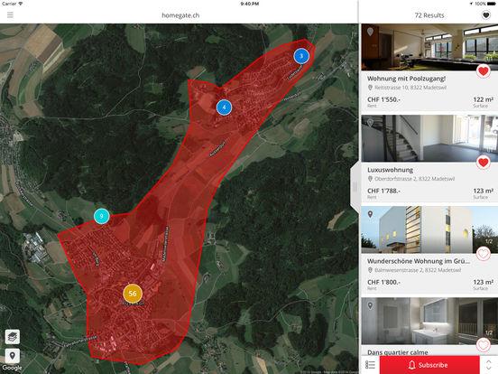 homegate.ch iPad Screenshot 1