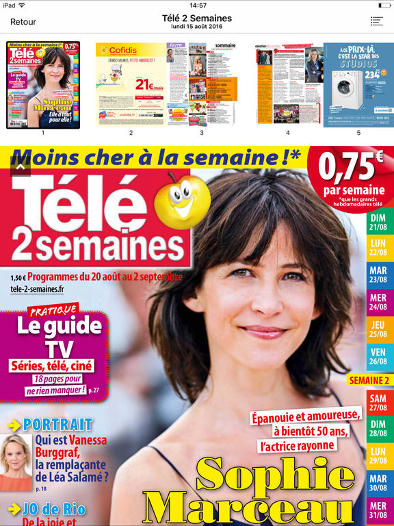 T l 2 semaines le magazine on the app store - Tele 2 semaines contact ...
