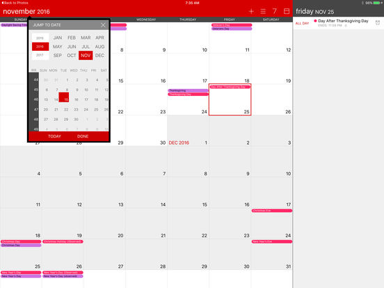 Calvetica Calendar iPad Screenshot 1