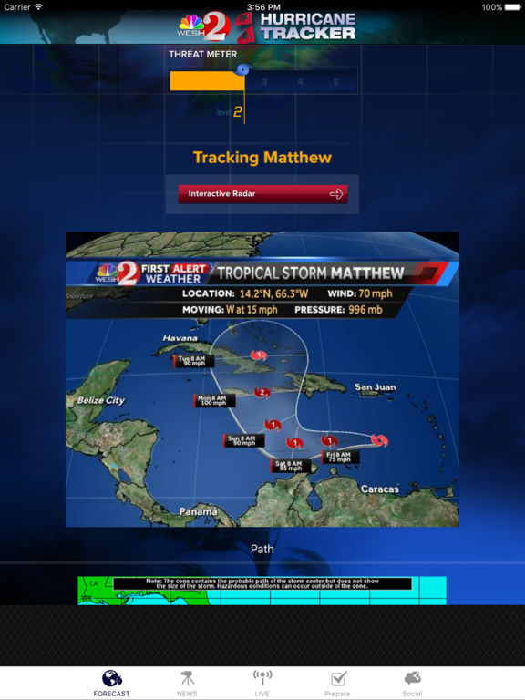 Hurricane Tracker WESH 2 - Orlando, Central Florida screenshot