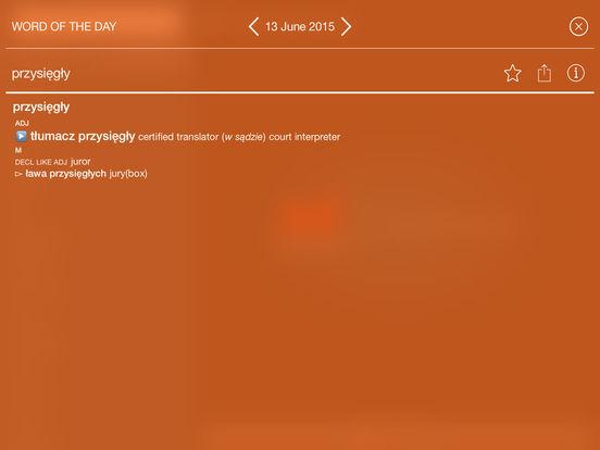 Collins Polish Dictionary iPad Screenshot 3