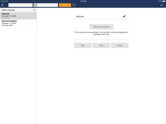 Careerjet iPad Screenshot 1