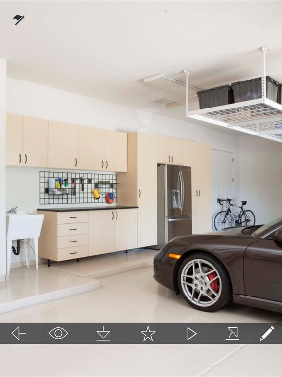 App shopper garage design ideas cool garage interior for Cool garage interior designs