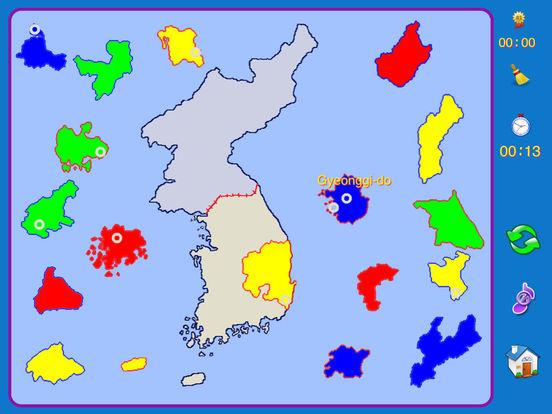 Korean Peninsula puzzle map iPad Screenshot 3