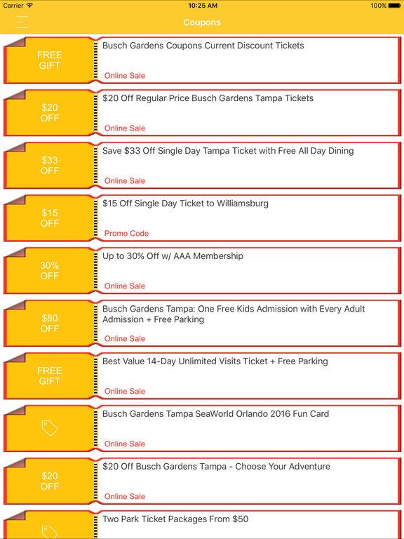 App Shopper Coupons For Busch Gardens App Shopping