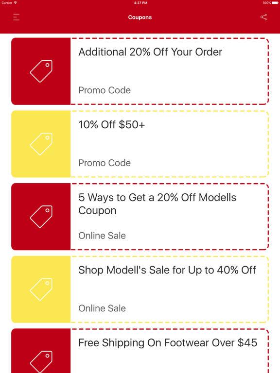 Modells coupon code
