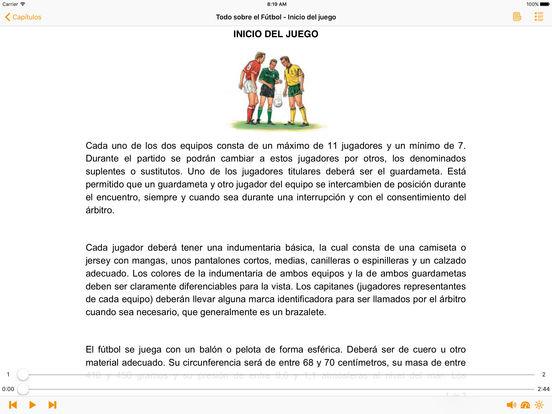 Todo sobre el Fútbol - AudioEbook iPad Screenshot 1