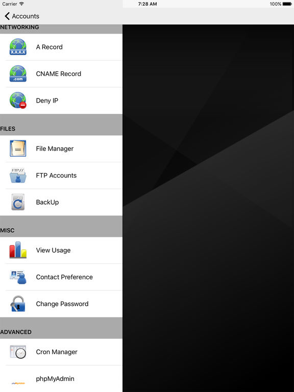 HostCP (for cPanel®) Screenshots