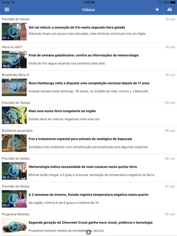 Captura de tela do iPad 3