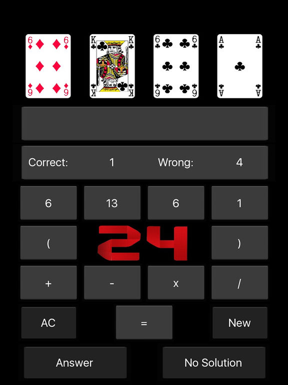 24 Game - Arithmetical Card Game (Ad free) Screenshots