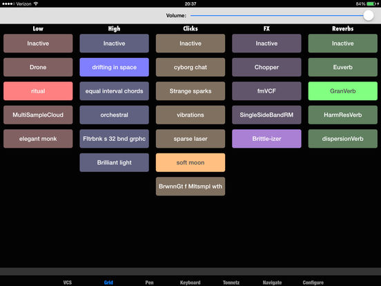 Kyma Control iPad Screenshot 2
