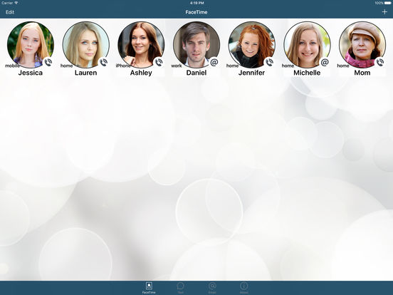 FaceDial ~ Facetime Photo Dialer iPad Screenshot 1