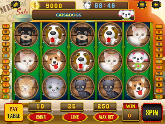App Shopper Cats And Dogs Slot Machine Casino Spin