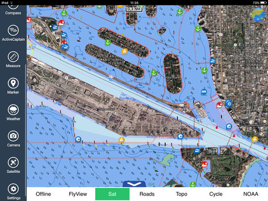 Marine: Georgia-South & North Carolina HD iPad Screenshot 3