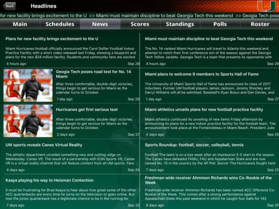 Miami Hurricanes College SuperFans iPad Screenshot 2