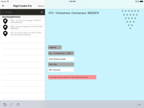flight codes pro iPad Screenshot 1