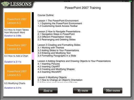 Powerpoint 07 HD Video Training iPad Screenshot 2