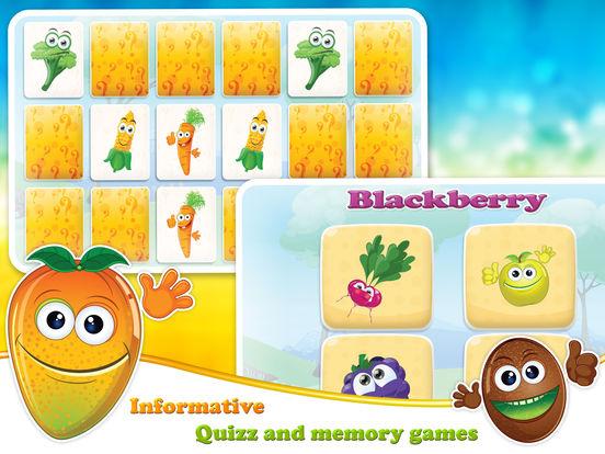 Veggies & Fruits: kids educational games - Englishscreeshot 3