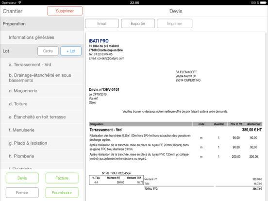 app shopper ibati pro app devis facture du b timent productivity. Black Bedroom Furniture Sets. Home Design Ideas