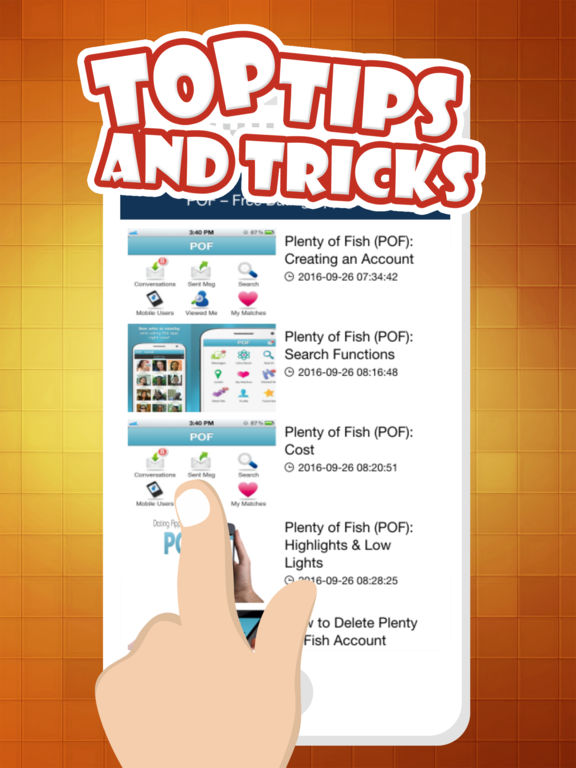 App shopper guide for pof free dating app edition books for Plenty of fish advanced search