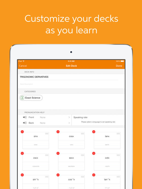 Flashcards+ by Chegg - Custom Flashcard Maker Screenshot