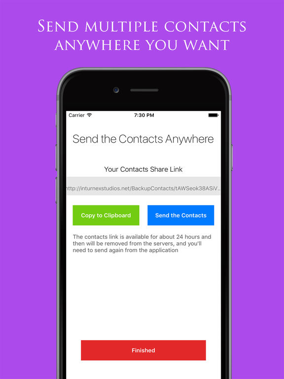 Backup My Contacts Assistant: Export & Transfer Screenshots