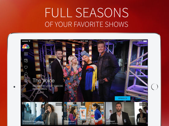 Screenshots of NBC – Watch Now and Stream Full TV Episodes for iPad