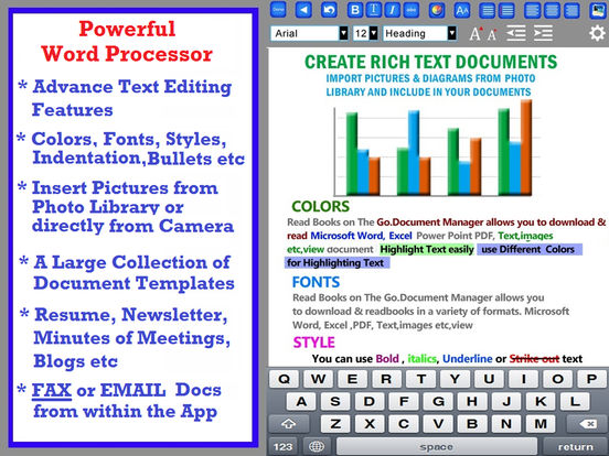 Document Writer for Microsoft Office - Word & PDF Screenshots