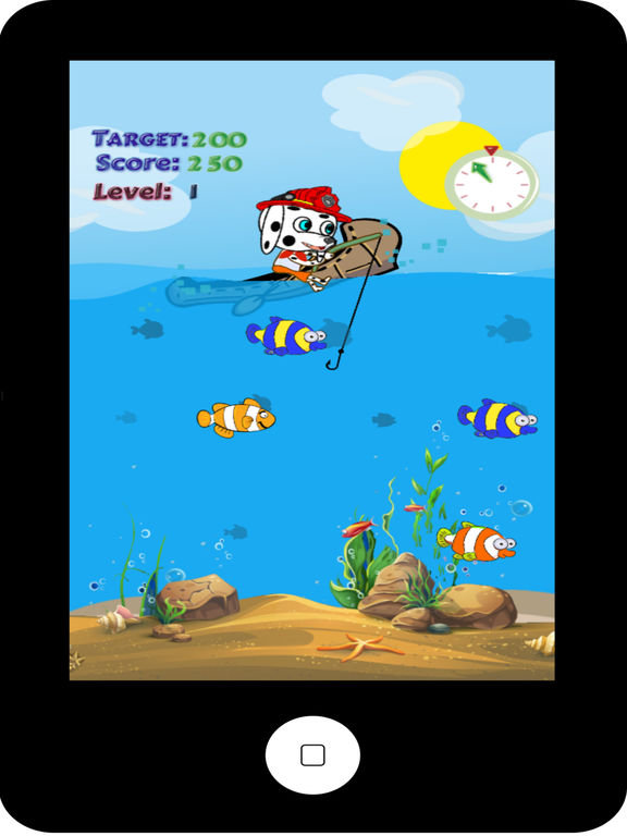 App shopper paw puppy kids fishing game games for Best fishing game app
