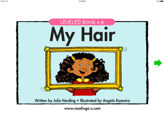 My Hair - LAZ Reader [Level A-kindergarten] iPad Screenshot 1