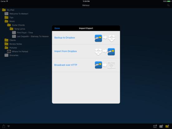 Meteor Notes Lite iPad Screenshot 3