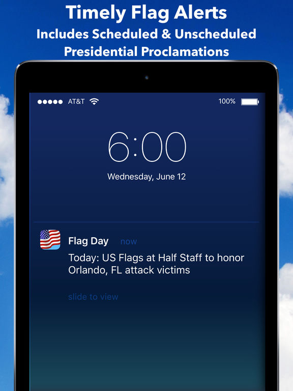 Flag Day - Get Alerts on US Half & Full Staff Days Screenshots